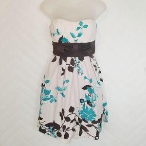 Speechless Baby Pink Brown Floral Sundress Size 5